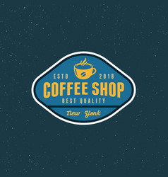 Modern vintage coffee shop label vector