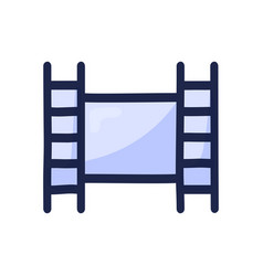 movie video film simple outline color icon vector image