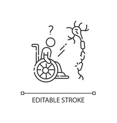 Multiple sclerosis linear icon vector