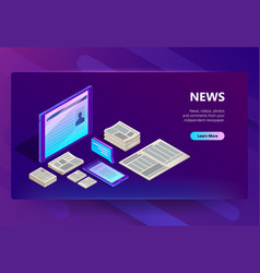 new and media technology vector image