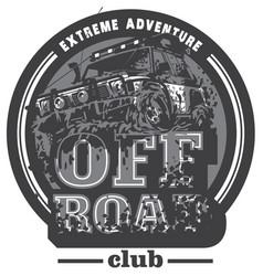 off-road car logo mud terrain suv expedition vector image