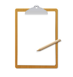 paper sheet document note holder empty vector image