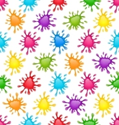 Pattern Colorful Stains Blots Splashes seamless vector image