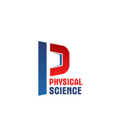 Physical science letter p icon vector