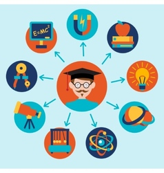 Physics science icons set vector