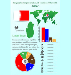 qatar infographics for presentation all vector image