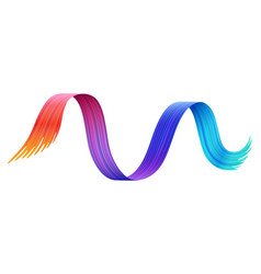 rainbow paint line isolated cartoon design vector image