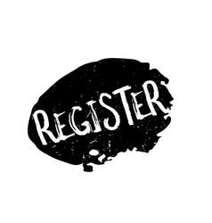 Register rubber stamp vector