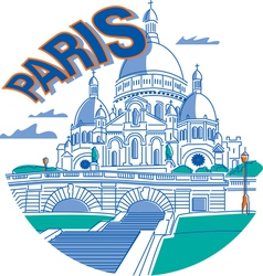 Sacrecoeur in Paris vector image