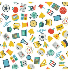 School and education flat design icons seamless vector