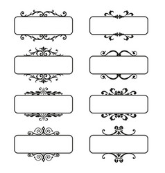 Set decorative florish frames vector