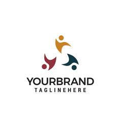 social relationship community logo template design vector image