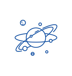 solar line icon concept solar flat symbol vector image