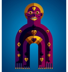 Spiritual totem meditation theme drawing A vector