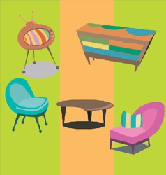 Styled modern furniture vector