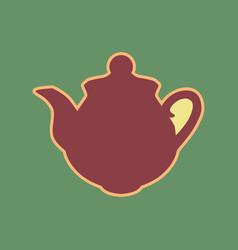Tea maker sign cordovan icon and mellow vector