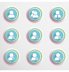 User buttons vector