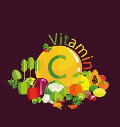 Vitamin C content vector