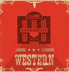 Western saloon poster background vector