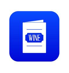 wine list icon digital blue vector image
