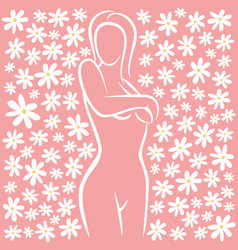 woman health female silhouette vector image