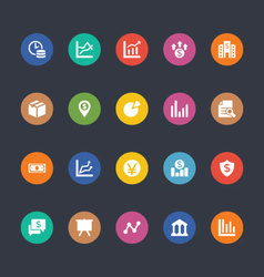 Glyphs Colored Icons 17 vector image vector image