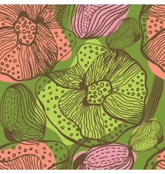 Cute floral seamless background vector image vector image