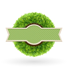 foliage lable vector image