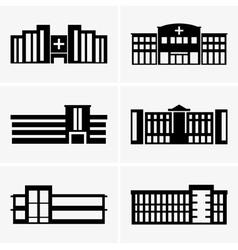 Hospitals vector image