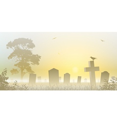 Misty Cemetery vector image vector image