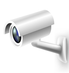 Security camera vector image vector image