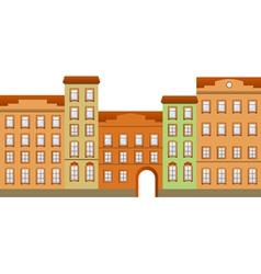 street building vector image vector image