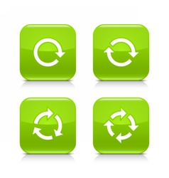 Green arrow refresh reload rotation repeat sign vector