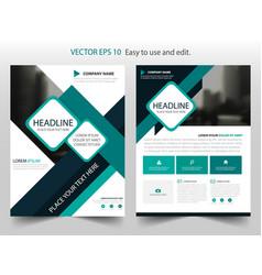 green brochure annual report flyer design vector image vector image