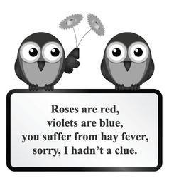 Hay Fever Poem vector image vector image