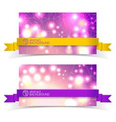 two banner set for design vector image