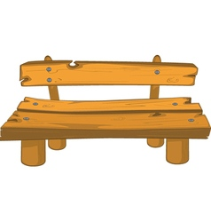 Classic garden bench vector image