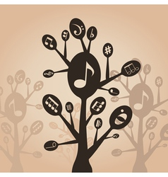 Musical spoon vector image vector image