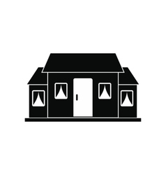 Small cottage black simple icon vector image vector image