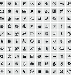 100 crisis icons vector image