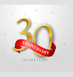 30 years happy anniversary banner celebration vector image