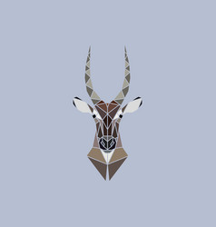 abstract head of african waterbuck vector image