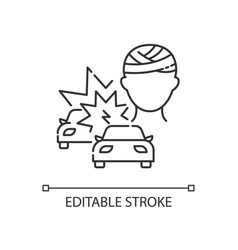 acquired brain injury linear icon vector image