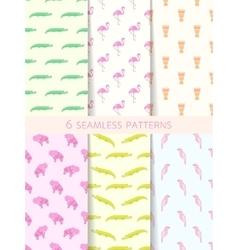 African Seamless Patterns Set vector
