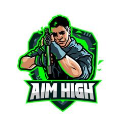 Aim high vector