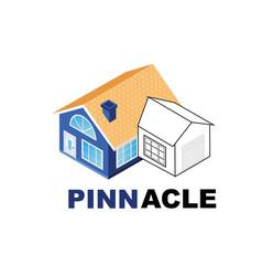 architectural company logo design vector image