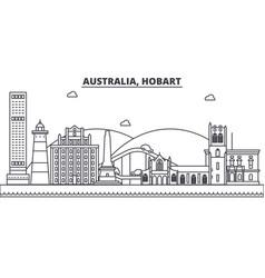 Australia hobart architecture line skyline vector