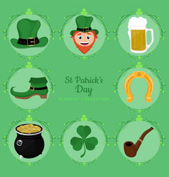 beautiful st patricks day element collection vector image