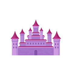 big fairy tale castle with high towers and conical vector image