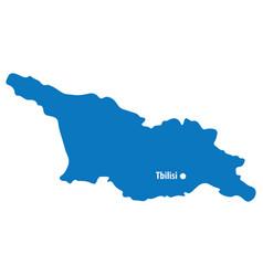 blue similar georgia map with capital city vector image